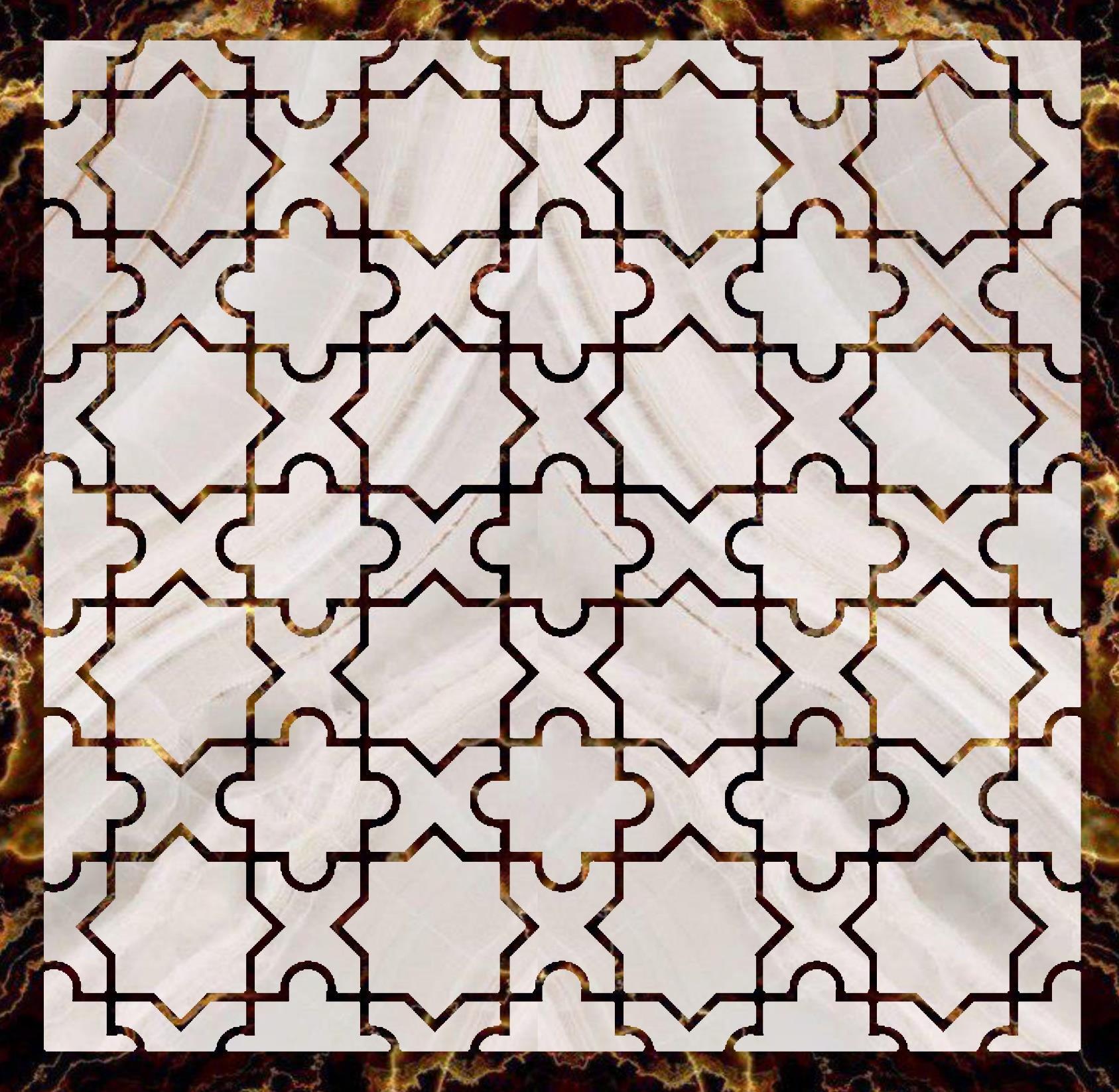 Engineered stone Persian ISP Motive IM